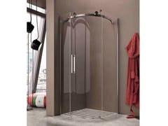 Box doccia angolare semicircolare con porta scorrevole FLUIDA FC - Showering
