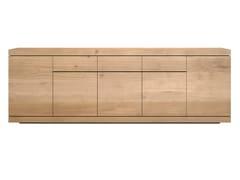 Madia in legno massello di rovere con ante e cassetti OAK BURGER | Madia - Oak Burger