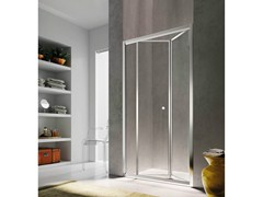Box doccia a nicchia con porta a soffietto ISY IJ - Showering