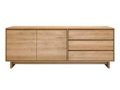 Madia in legno massello con ante a battente con cassetti OAK WAVE | Madia - Oak Wave