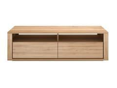 Mobile TV basso in legno massello OAK SHADOW | Mobile TV - Oak Shadow