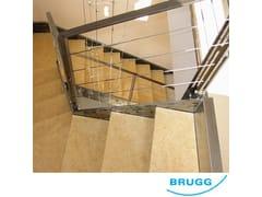 Parapetto / recinzione in acciaio inoxFuni BRUGG - C.P. SISTEMI