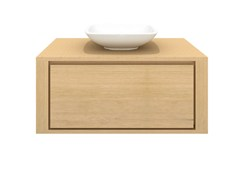 Mobile lavabo singolo sospeso in legno massello OAK SHADOW | Mobile lavabo singolo - Oak Shadow