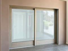 Porta-finestra alzante scorrevole scorrevole in frassinoPorta-finestra alzante scorrevole - BG LEGNO