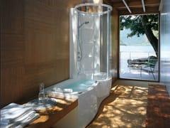 Jacuzzi, J.TWIN PREMIUM Vasca da bagno idromassaggio rettangolare con doccia