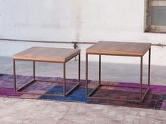 Tavolino quadrato in legno impiallacciato da salotto MEISEL - Tavolini