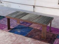 Tavolino rettangolare in legno di recupero KORZUN - Tavolini