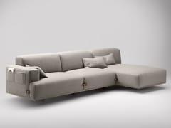 Divano in tessuto con chaise longueDUFFLE | Divano con chaise longue - BOSC
