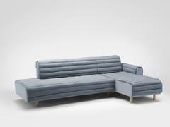 Divano angolare in tessuto con chaise longueKOUET | Divano angolare - BOSC