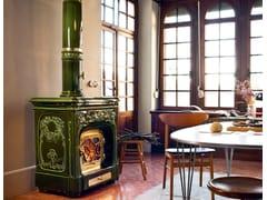 Stufa a legna in ceramica ad accumuloLIBERTY - SERGIO LEONI