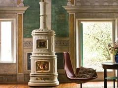 Stufa a legna in ceramica ad accumuloVIENNESE - SERGIO LEONI