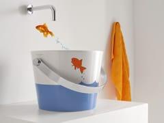 Lavabo in ceramica per bambiniBUCKET | Lavabo per bambini - SCARABEO CERAMICHE