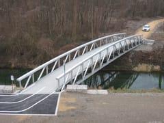 ALUSCALAE, SOVRAPPASSO CICLO-PEDONALE Ponte e passerella pedonale in alluminio
