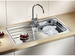 Lavello a una vasca da incasso in acciaio inox con sgocciolatoio BLANCO MEDIAN 45 S-IF - Blanco Median