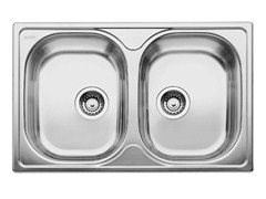 Lavello a 2 vasche da incasso in acciaio inox BLANCO TIPO 8 COMPACT - Blanco Tipo