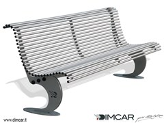 Panchina in metallo in stile moderno con schienalePanchina Luxe in acciaio zincato - DIMCAR