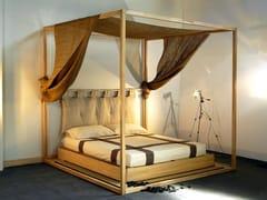 Letto tatami in legno a baldacchinoYASUMI | Letto a baldacchino - CINIUS