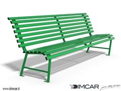 Panchina in metallo in stile classico con schienalePanchina Madrid - DIMCAR