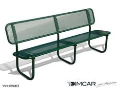 Panchina in metallo in stile classico con schienalePanchina Iride - DIMCAR
