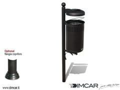 Portarifiuti interrato in metallo con coperchio con portacenereCestino Forlì con coperchio e posacenere - DIMCAR