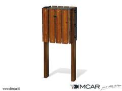 Portarifiuti interrato in legno per esterniCestino Oikos - DIMCAR