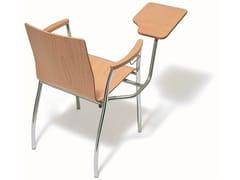 Sedia da conferenza in legno con ribaltina KIZZ | Sedia da conferenza con ribaltina -