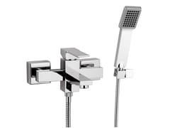 Miscelatore per vasca a muro con doccetta QUBIKA | Miscelatore per vasca a muro - Qubika