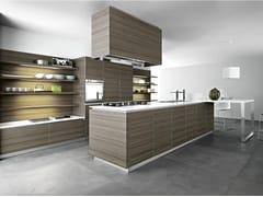 Cucina componibili in melaminico teak ARIEL - COMPOSIZIONE 5 - Ariel