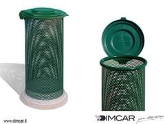 Portarifiuti in metallo con coperchio per esterniCestone Eden con coperchio - DIMCAR