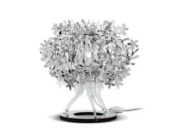 Lampada da tavolo in Steelflex® FIORELLINA SILVER - Fiorella