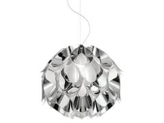 Lampada a sospensione a luce indiretta in Steelflex® FLORA MEDIUM SILVER - Flora