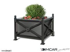 DIMCAR, Fioriera Orchidea Maxi pareti lam forata Fioriera per spazi pubblici in metallo