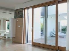 Finestra scorrevole in legno lamellare EXTER ALU DESIGN | Finestra scorrevole - Legno/alluminio