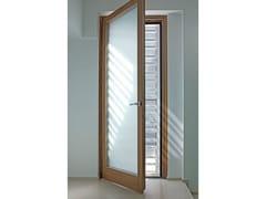 Porta-finestra a battente in legno lamellare EXTER ALU DESIGN | Finestra a battente - Legno/alluminio