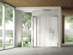 Box doccia angolare con porta pivotante LIKE 10 - Like