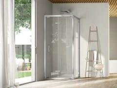 Box doccia angolare con porta a soffietto LIKE 12 - Like