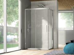Box doccia angolare con porta scorrevole LIKE 13 - Like