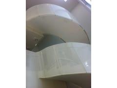 Balaustra in alluminio e pannello microforatoParapetto per scale - ALUSCALAE