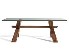 Tavolo in legno e vetro su misura DECIMO | Tavolo in legno e vetro - Canaletto