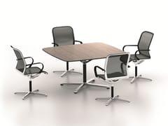 Tavolo da riunione quadrato FILO 4-STAR TABLE | Tavolo da riunione quadrato -