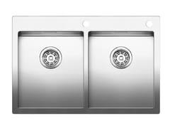 Lavello a 2 vasche da incasso in acciaio inoxBLANCO CLARON 340/340-IF/A - BLANCO