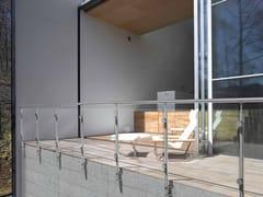 Fontanot, INOX20 SCREEN Parapetto in acciaio e vetro