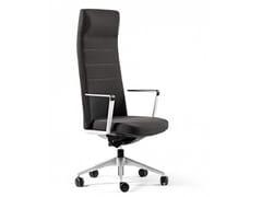 Poltrona ufficio direzionale in tessuto a 5 razze con schienale alto CRON | Poltrona ufficio direzionale con schienale alto -
