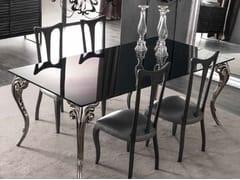 Tavolo rettangolare in vetro laccato ANTARES | Tavolo laccato - Zoe Gold