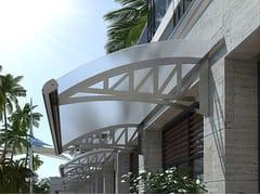 DIRELLO, FLEX Pensilina in alluminio per porte