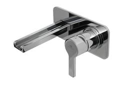 Miscelatore per lavabo a muro con piastra URBAN | Miscelatore per lavabo - Urban