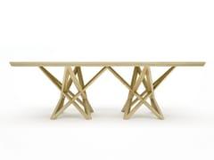Tavolo da salotto rettangolare in legno masselloXERXES - BELFAKTO