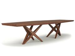 Tavolo rettangolare in legno masselloVITOX - BELFAKTO