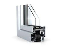 WICONA, WICLINE 65/75 evo - Design classico Finestra in alluminio con profili smussati