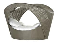 Alcova con rivestimento in fibra sintetica intrecciata ALTEA | Letto da giardino - Altea